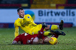 Ollie Clarke of Bristol Rovers is fouled by Billy Kee of Accrington Stanley - Mandatory by-line: Robbie Stephenson/JMP - 12/01/2019 - FOOTBALL - Wham Stadium - Accrington, England - Accrington Stanley v Bristol Rovers - Sky Bet League One
