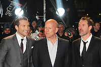 Jai Courtney; Bruce Willis; Sebastian Koch, A Good Day To Die Hard - UK Film Premiere, Empire Cinema Leicester Square, London UK, 07 February 2013, (Photo by Richard Goldschmidt)