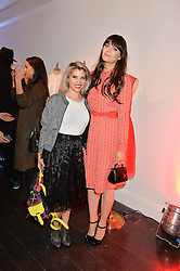 Left to right, PIPS TAYLOR and LILAH PARSONS at the Cointreau launch for Yumi by Lilah Parsons SS/16 collection held at 15 Bateman Street, London on 1st December 2015