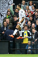 Picture by Paul Chesterton/Focus Images Ltd.  07904 640267.31/03/12.Clint Dempsey of Fulham scores his sides 1st goal and celebrates during the Barclays Premier League match at Craven Cottage stadium, London.