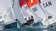ENGLAND, Weymouth. 3rd August 2012. Olympic Games. Men's 470 Class. Jim Asenathi (RSA) Skipper, Roger Hudson (RSA) Crew.