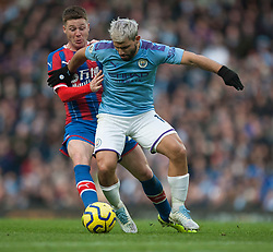 Sergio Aguero of Manchester City (R) and James McCarthy of Crystal Palace in action - Mandatory by-line: Jack Phillips/JMP - 18/01/2020 - FOOTBALL - Etihad Stadium - Manchester, England - Manchester City v Crystal Palace - English Premier League