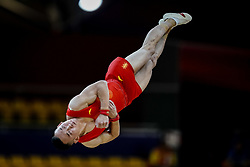 October 29, 2018 - Doha, Qatar - Ruoteng Xiao of  China   during  Floor, Team final for Men at the Aspire Dome in Doha, Qatar, Artistic FIG Gymnastics World Championships on October 29, 2018. (Credit Image: © Ulrik Pedersen/NurPhoto via ZUMA Press)