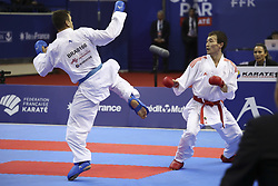 January 28, 2018 - Paris, France - Darkhan Assadilov (KAZ) bat Douglas Brose (BRA) 2-1 (Credit Image: © Panoramic via ZUMA Press)