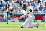 Virat Kohli (captain) of India batting during second day of the Specsavers International Test Match 2018 match between England and India at Edgbaston, Birmingham, United Kingdom on 2 August 2018. Picture by Graham Hunt.
