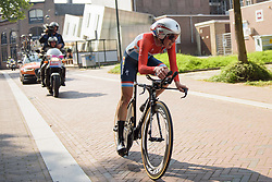 Christine Majerus at Boels Rental Ladies Tour Prologue a 4.3 km individual time trial in Wageningen, Netherlands on August 29, 2017. (Photo by Sean Robinson/Velofocus)