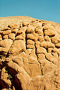 BOULMANE DADES, MOROCCO - 13TH MAY 2016 - Dades Gorge wall formation - known as the 'monkey fingers,' - in the Dades Valley - also known as the Valley of Roses, Southern Morocco