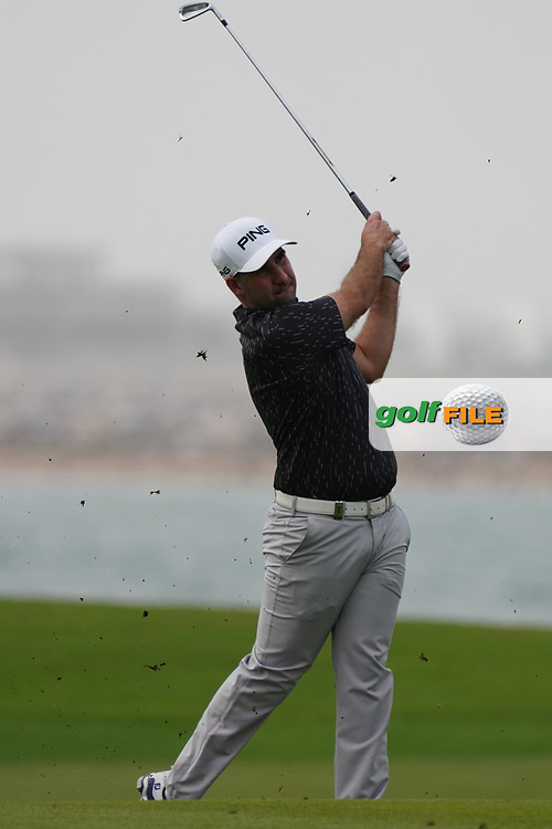 Oliver Farr (WAL) on the 9th during Round 1 of the Oman Open 2020 at the Al Mouj Golf Club, Muscat, Oman . 27/02/2020<br /> Picture: Golffile   Thos Caffrey<br /> <br /> <br /> All photo usage must carry mandatory copyright credit (© Golffile   Thos Caffrey)