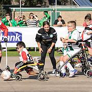 NLD/'T Harde/20190914 -  Beatrix bij campagnedag Zwaluwen Jeugd Actie, Gehandicaptenvoetbal