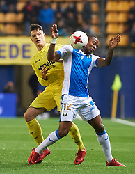 January 10, 2018 - Vila-Real, Castellon, Spain - Adrian Marin of Villarreal CF and Claudio Beauvue of Club Deportivo Leganes during the Spanish Copa del Rey, Round of 16, match between Villarreal CF and Club Deportivo Leganes at Estadio de la Ceramica on jenuary 10, 2018 in Vila-real, Spain. (Credit Image: © Maria Jose Segovia/NurPhoto via ZUMA Press)