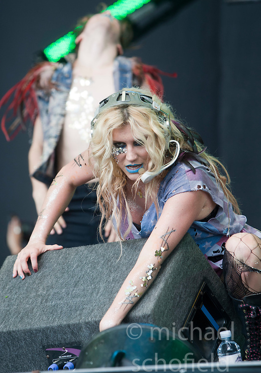 Kesha plays the main stage..T in the Park on Saturday 9th July 2011. T in the Park 2011 music festival takes place from 7-10th July 2011 in Balado, Fife, Scotland..©Pic : Michael Schofield.