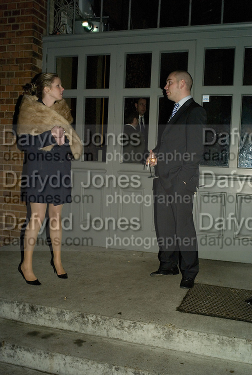 Blondine Lucas and James Malone, 130 Years Of Veuve Clicquot Yellow, The Wapping Project, Wapping Wall, London, E1,13 November 2007. -DO NOT ARCHIVE-© Copyright Photograph by Dafydd Jones. 248 Clapham Rd. London SW9 0PZ. Tel 0207 820 0771. www.dafjones.com.