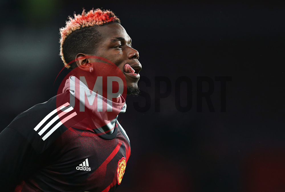 Paul Pogba of Manchester United warms up - Mandatory by-line: Matt McNulty/JMP - 18/11/2017 - FOOTBALL - Old Trafford - Manchester, England - Manchester United v Newcastle United - Premier League