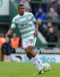 Yeovil Town's Stephen Arthurworrey - Photo mandatory by-line: Harry Trump/JMP - Mobile: 07966 386802 - 25/04/15 - SPORT - FOOTBALL - Sky Bet League One - Yeovil Town v Port Vale - Huish Park, Yeovil, England.