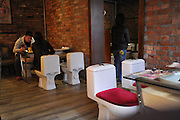 SHANGHAI, CHINA - FEBRUARY 27: (CHINA OUT)<br /> <br /> A general view of a restaurant with the theme of toilet in Shanghai, China. <br /> ©Exclusivepix