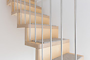 Hanging Stairs. 65 Hillgate Place, London. <br /> James Wyman Architects