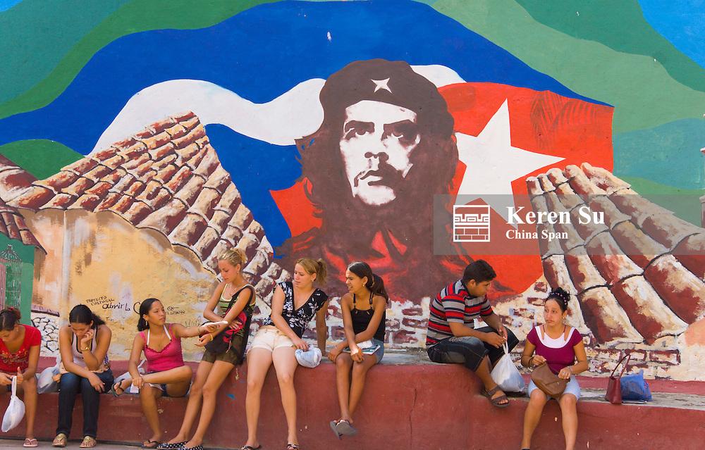 Portrait of Che Gveara, Trinidad, Cuba