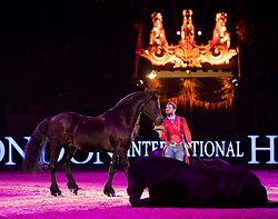 Santi Serra performs during day seven of the London International Horse Show at London Olympia.