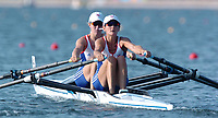 20040815 Olympic Games Athens Greece [Rowing]<br />  Schinias Photo  Peter Spurrier <br /> GBR LW2X left Helen Casey and Tracy Langlands