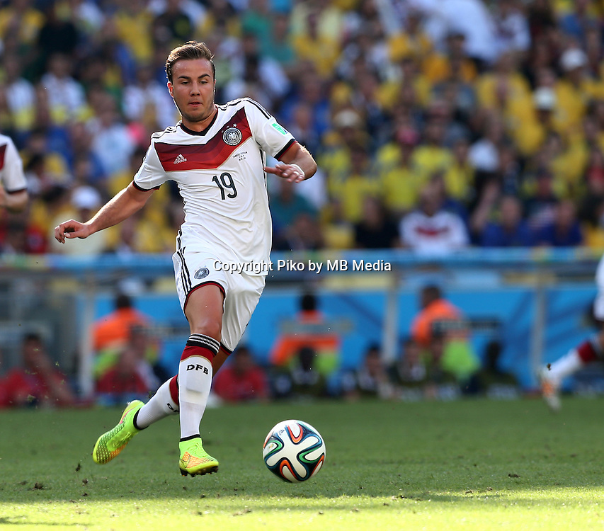 Fifa Soccer World Cup - Brazil 2014 - <br /> FRANCE (FRA) Vs. GERMANY (GER) - Quarter-finals - Estadio do MaracanaRio De Janeiro -- Brazil (BRA) - 04 July 2014 <br /> Here German player Mario GOETZE<br /> &copy; PikoPress