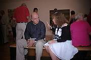 James Fenton and Deborah Hodgkin. 40th anniversary party. Modern Art Oxford. 14 July 2005. ONE TIME USE ONLY - DO NOT ARCHIVE  © Copyright Photograph by Dafydd Jones 66 Stockwell Park Rd. London SW9 0DA Tel 020 7733 0108 www.dafjones.com