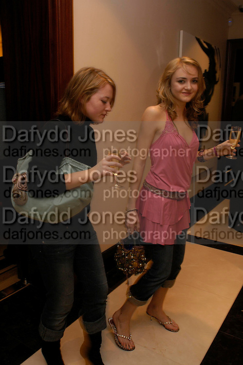 Millie Jefferies and Catharine Denning. Candy. Apartment launch party Fifth Floor, 17-22 Trevor Square Tim Jefferies<br />hosts reception previewing property designers latest apartment in Knightsbridge. 18 January 2005 ONE TIME USE ONLY - DO NOT ARCHIVE  &copy; Copyright Photograph by Dafydd Jones 66 Stockwell Park Rd. London SW9 0DA Tel 020 7733 0108 www.dafjones.com