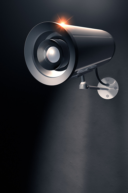 3D rendering of a security Camera