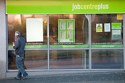 FILE PICTURE © under license to London News Pictures.  18/01/2011 The job centre plus in Plymouth. Unemployment figures are being released today and there are planned staff strikes at some Job Centre Plus on Thursday and Friday. Picture credit should read: David Hedges/LNP