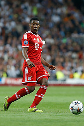 23.04.2014, Estadio Santiago Bernabeu, Madrid, ESP, UEFA CL, Real Madrid vs FC Bayern Muenchen, Halbfinale, Hinspiel, im Bild David Alaba (FC Bayern Muenchen) // during the UEFA Champions League Round of 4, 1st Leg Match between Real Madrid vs FC Bayern Munich at the Estadio Santiago Bernabeu in Madrid, Spain on 2014/04/24. EXPA Pictures © 2014, PhotoCredit: EXPA/ Alterphotos/ Caro Marin<br /> <br /> *****ATTENTION - OUT of GER*****