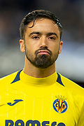 Jaume Costa (#11) of Villarreal CF before the Europa League group stage match between Rangers FC and Villareal CF at Ibrox, Glasgow, Scotland on 29 November 2018.