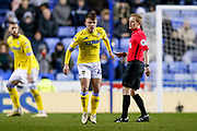 Leeds United midfielder Jamie Shackleton (46) in action  during the EFL Sky Bet Championship match between Reading and Leeds United at the Madejski Stadium, Reading, England on 12 March 2019.