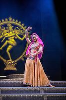 Carol Furtado in Merchants of Bollywood at the Peacock Theatre London. Carole Edrich 2014