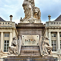 Pro Patria Monument in Brussels, Belgium<br />
