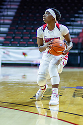 NORMAL, IL - January 03: Tete Maggett during a college women's basketball game between the ISU Redbirds and the Sycamores of Indiana State January 03 2020 at Redbird Arena in Normal, IL. (Photo by Alan Look)