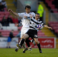 Photo: Jed Wee/Sportsbeat Images.<br /> Darlington v Sunderland. Pre Season Friendly. 18/07/2007.<br /> <br /> Darlington's Ian Harty (R) with Sunderland's Stanislav Varga.
