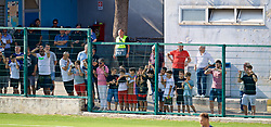NAPLES, ITALY - Tuesday, September 17, 2019: Napoli supporters during the UEFA Youth League Group E match between SSC Napoli and Liverpool FC at Stadio Comunale di Frattamaggiore. (Pic by David Rawcliffe/Propaganda)