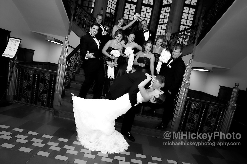 Wedding photography of Trevor Beaman and Shawn Burford in Lafayette, Indiana on Dec. 19, 2009.<br /> By Michael Hickey, Wedding photographer