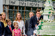 29-6-2017 BELGI&Euml; WATERLOO - 29-06-2017 Waterloo Belgi&euml; koninklijke familie die de vroege 80ste verjaardag van Belgie koningin Paola viert, dat is 11 september in Waterloo.<br /> Koning Albert<br /> Koningin Mathilde en Prins Emmanuel en Koning Filip en Prins Gabriel en Prinses Eleonore en Prins Emmanuel en Prinses Elisabeth<br /> Prinses Claire met Prins Aymeric en Prins Nicolas en Prinses Louise<br /> Prinses Astrid en Prins Lorenz en Maria Laura en Luisa Maria en Joachim<br /> Prins Amedeo en Prinses Elisabetta &quot;Lili&quot; Rosboch von Wolkenstein en baby Anna Astrid ROBIN UTRECHT<br /> 29-6-2017 BELGIUM WATERLOO - 29-06-2017 Waterloo Belgium royal family celebrating the early 80th anniversary of Belgium Queen Paola, which is 11th september, in Waterloo.<br /> King Albert<br /> Queen Mathilde and Prince Emmanuel and King Filip and Prince Gabriel and Princess Eleonore and Prince Emmanuel and Princess Elisabeth<br /> Princess Claire with Prince Aymeric and Prince Nicolas and Princess Louise<br /> Princess Astrid and Prince Lorenz and Maria Laura and Luisa Maria and Joachim<br /> Prince Amedeo and Princess Elisabetta &ldquo;Lili&rdquo; Rosboch von Wolkenstein and baby Anna Astrid ROBIN UTRECHT