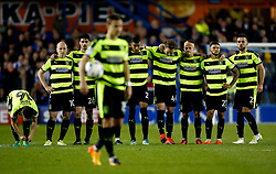 Huddersfield Town players look on as Chris Lowe walks to take a penalty - Mandatory by-line: Matt McNulty/JMP - 17/05/2017 - FOOTBALL - Hillsborough - Sheffield, England - Sheffield Wednesday v Huddersfield Town - Sky Bet Championship Play-off Semi-Final 2nd Leg