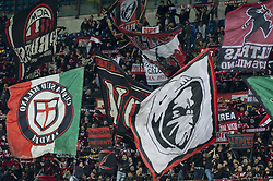April 8, 2018 - Milan, Milan, Italy - 8th April 2018, San Siro, Milan, Italy; Serie A football, AC Milan versus US Sassuolo; Milan Supporters (Credit Image: © Gaetano Piazzolla/Pacific Press via ZUMA Wire)