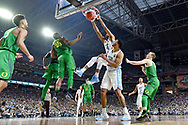 GLENDALE, AZ - APRIL 01: Isaiah Hicks #4 of the North Carolina Tar Heels dunks the ball during the 2017 NCAA Men's Final Four Semifinal against the Oregon Ducks at University of Phoenix Stadium on April 1, 2017 in Glendale, Arizona.  (Photo by Brett Wilhelm/NCAA Photos via Getty Images) *** Local Caption *** Isaiah Hicks