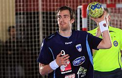 Jure Natek at handball match of 5th Round of qualifications for EHF Euro 2010 in Austria between National team of Slovenia vs Bulgaria, on November 30, 2008 in Velenje, Slovenia. (Photo by Vid Ponikvar / Sportida)