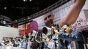 Photokina in Cologne ist the World's biggest bi-annual photo fair. Canon telephoto shooting range.
