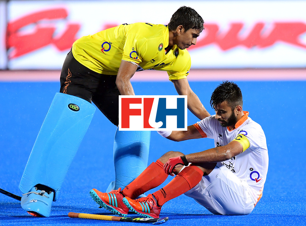 Odisha Men's Hockey World League Final Bhubaneswar 2017<br /> Match id:19<br /> India v Argentina<br /> Foto: Argentina wins the Semi Final From India.<br /> Manpreet Singh (Ind) <br /> COPYRIGHT WORLDSPORTPICS FRANK UIJLENBROEK