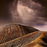 Art photography created in Cinder Cones National Monument of the Mojave National Preserve.