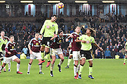Bournemouth Defender, Charlie Daniels (11) and Burnley Midfielder, George Boyd (21)  during the Premier League match between Burnley and Bournemouth at Turf Moor, Burnley, England on 10 December 2016. Photo by Mark Pollitt.