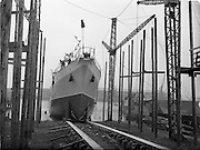 20/09/1952<br /> 09/20/1952<br /> 20 September 1952<br /> Launch of the steamship &quot;Isolda&quot; for Irish Lights, at the Liffey Dockyard Co. Ltd., Dublin.