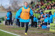 Forest Green Rovers Marcus Kelly(10) warming up during the Vanarama National League match between Forest Green Rovers and Macclesfield Town at the New Lawn, Forest Green, United Kingdom on 4 March 2017. Photo by Shane Healey.