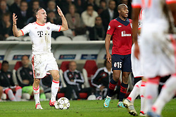 23.10.2012, Grand Stade Lille Metropole, Lille, OSC Lille vs FC Bayern Muenchen, im Bild Franck RIBERY (FC Bayern Muenchen - 7) ist wuetend, aufgebracht // during UEFA Championsleague Match between Lille OSC and FC Bayern Munich at the Grand Stade Lille Metropole, Lille, France on 2012/10/23. EXPA Pictures © 2012, PhotoCredit: EXPA/ Eibner/ Gerry Schmit..***** ATTENTION - OUT OF GER *****