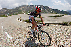 04.07.2012, Osttirol, AUT, 64. Oesterreich Rundfahrt, 4. Etappe, Lienz - St. Johann Alpendorf, im Bild Oliver Zaugg (SUI, Radioshack-Nissan) // Radioshack-Nissan driver Oliver Zaugg of Switzerland during the 64rd Tour of Austria, Stage 4, from Lienz to St. Johann Alpendorf, Lienz, Austria on 2012/07/04. EXPA Pictures © 2012, PhotoCredit: EXPA/ Johann Groder